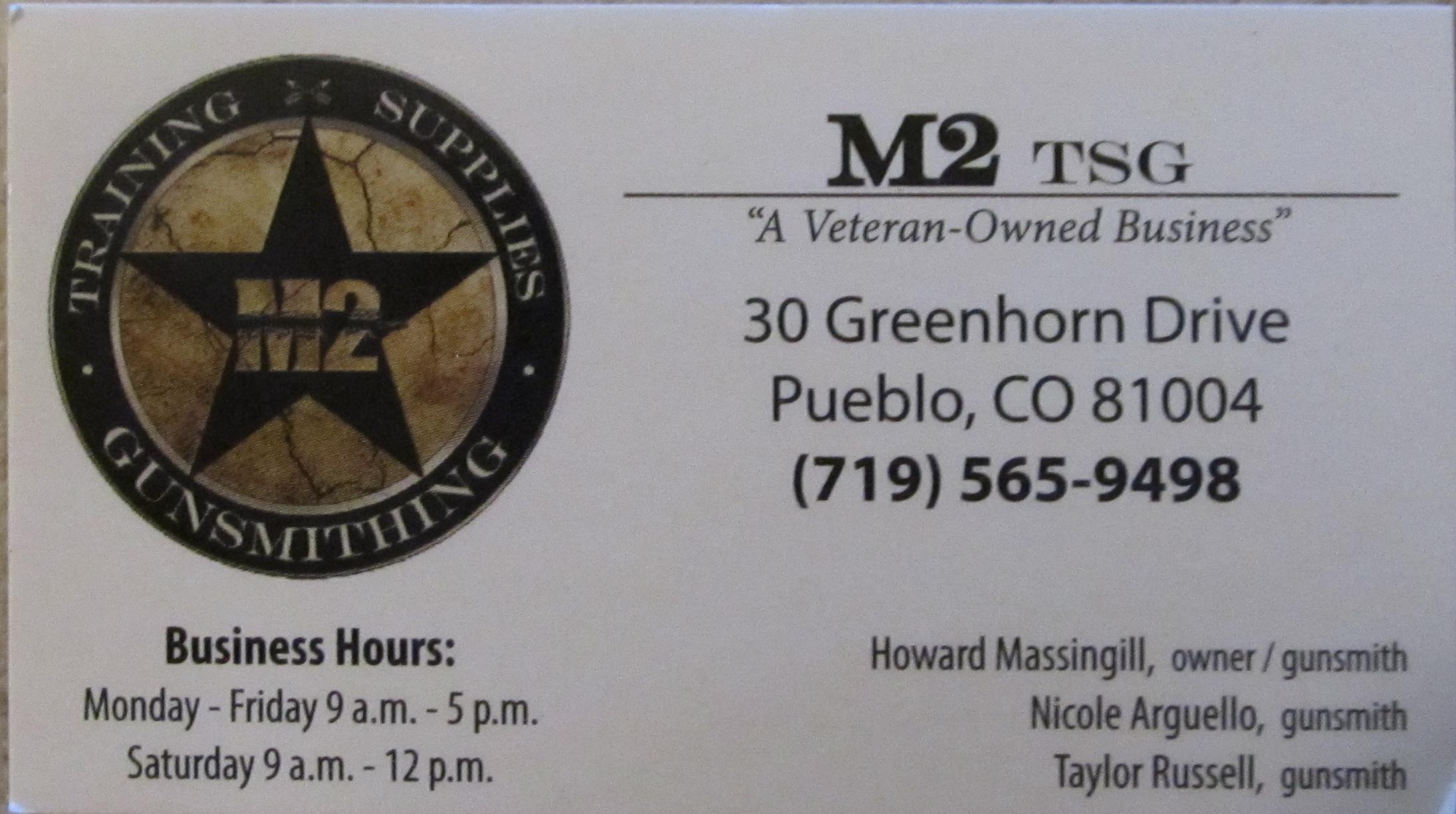 M2 Tsg Shoot Straight Puebloshoot Straight Pueblo